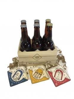 Kistje gevuld met 6 bieren