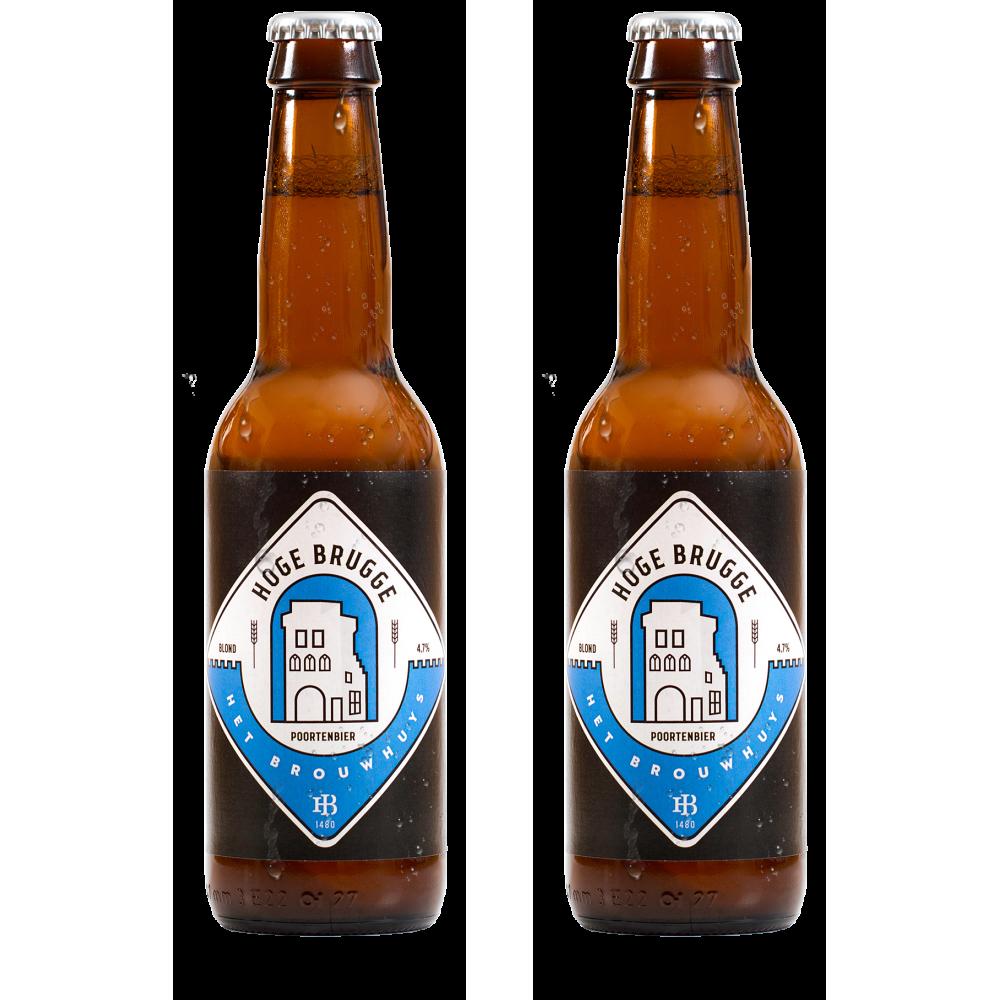 Geschenkverpakking - 2 flesjes + bierglas + viltjes